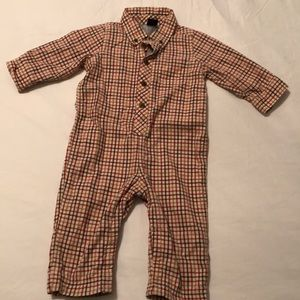 Baby Gap Lined Plaid One Piece Sz 12-18 Months